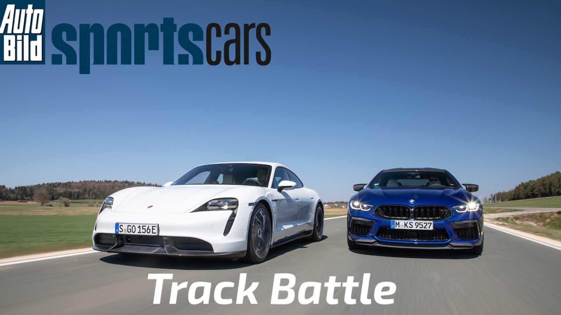 Porsche Taycan Turbo S против BMW M8 Gran Coupe