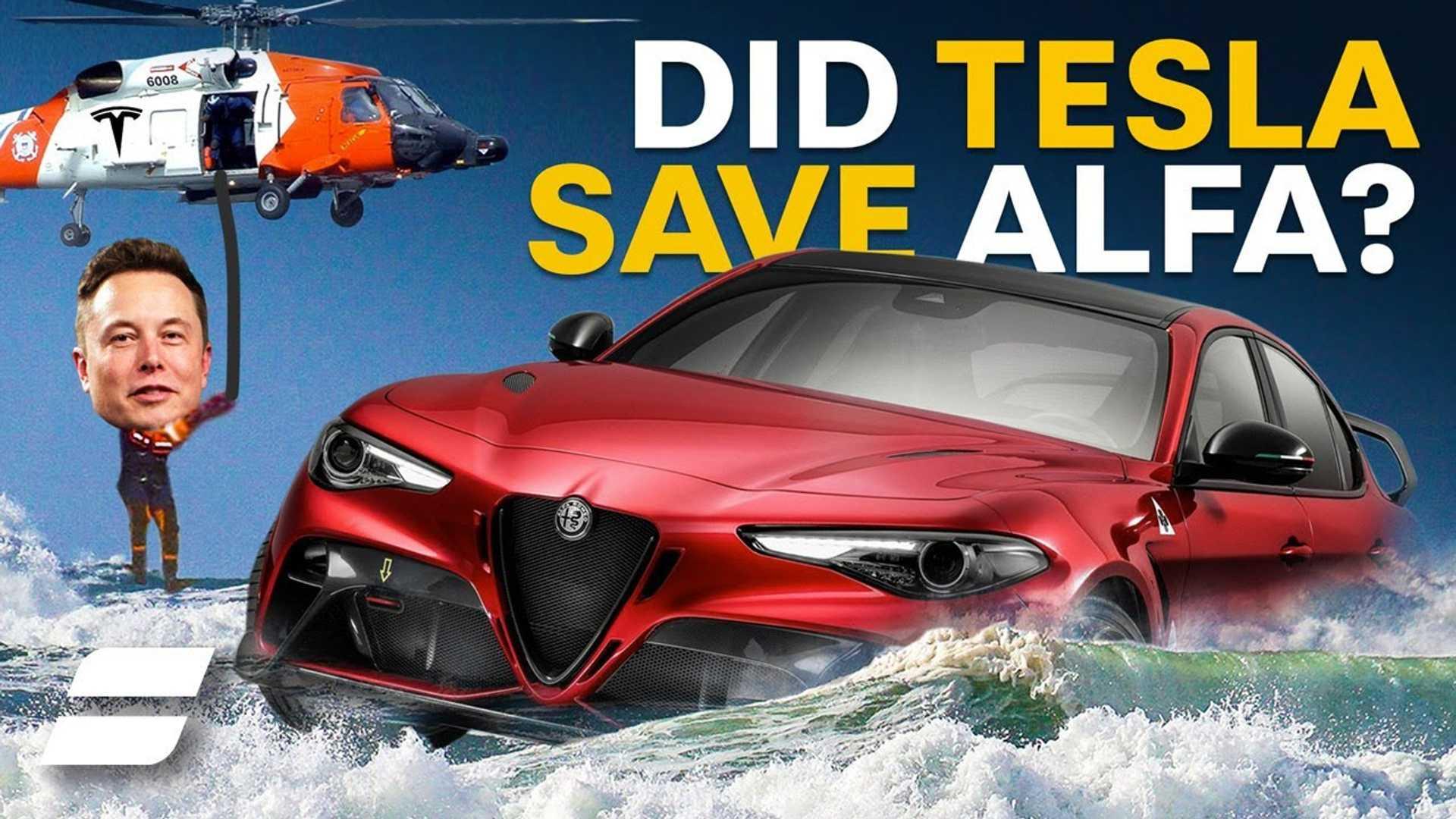 Мы должны поблагодарить Теслу за выживание Alfa Romeo (и Fiat-Chrysler)