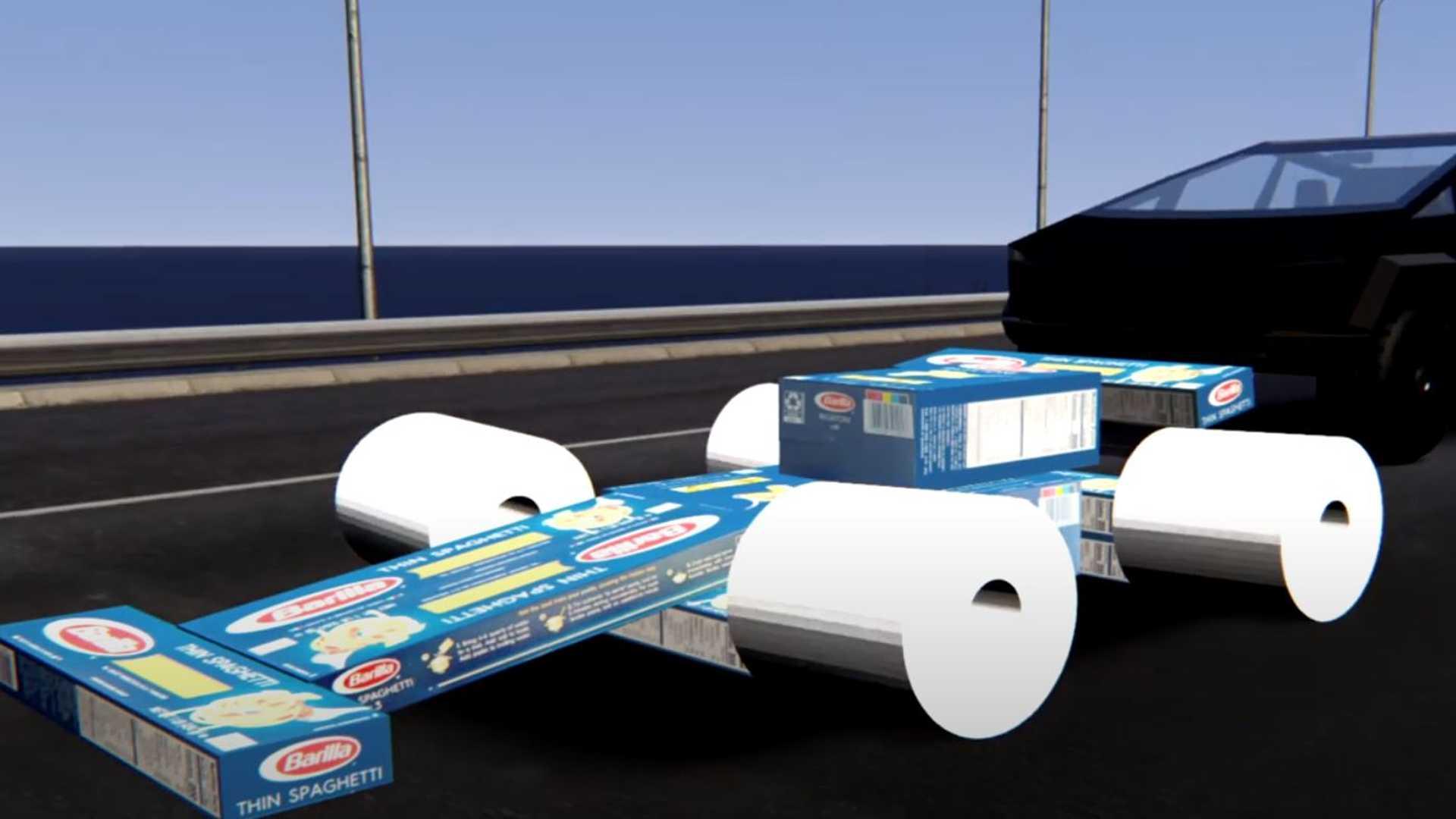Часы Tesla Cybertruck Race Туалетная бумага Tire Formula 1 Race Car