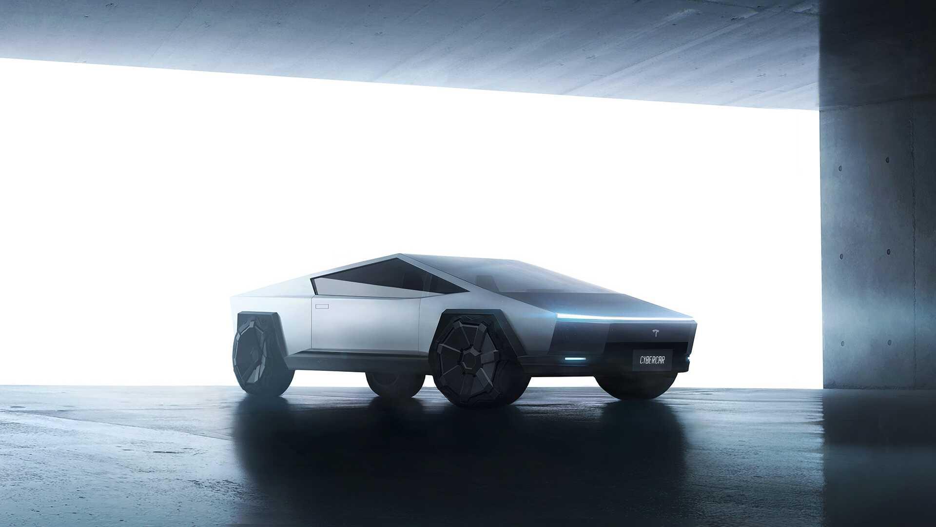 Проверьте этот двухдверный Tesla Cybertruck, превращенный в автомобиль-купе