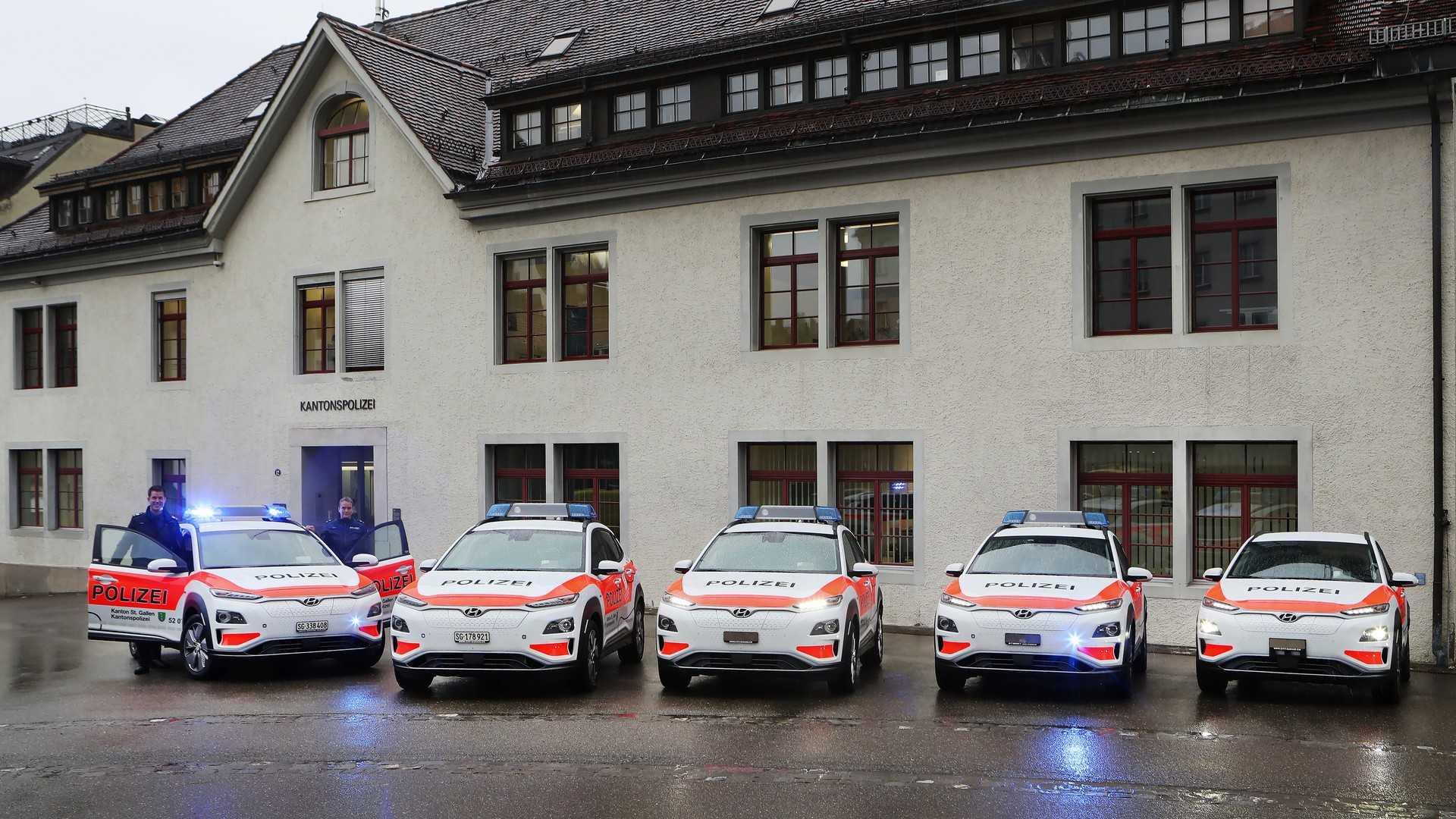 Hyundai Kona Electric And NEXO Aim To Make European Police Forces Greener