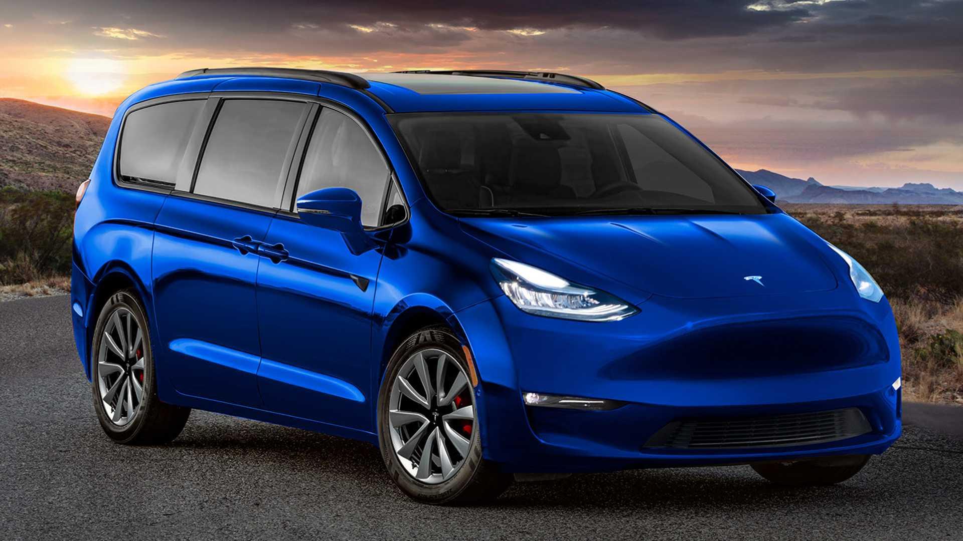 Проверьте этот минивэн Tesla: дизайнерский Chrysler Pacifica