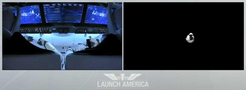 Наблюдайте за космическим доком NASA Astronaut SpaceX с орбитальной космической станцией