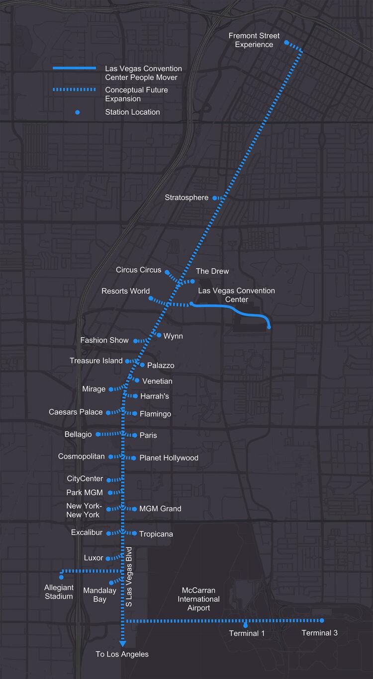 Недавно завершенные тоннели Лас-Вегаса от компании Boring
