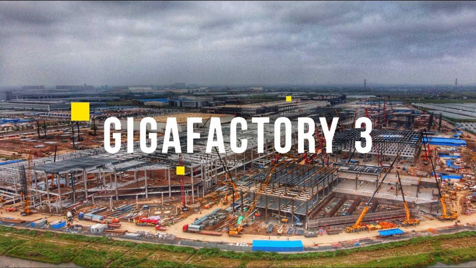 Тесла Гига Шанхай Строительство 7 мая 2020 года: Панорама Видео
