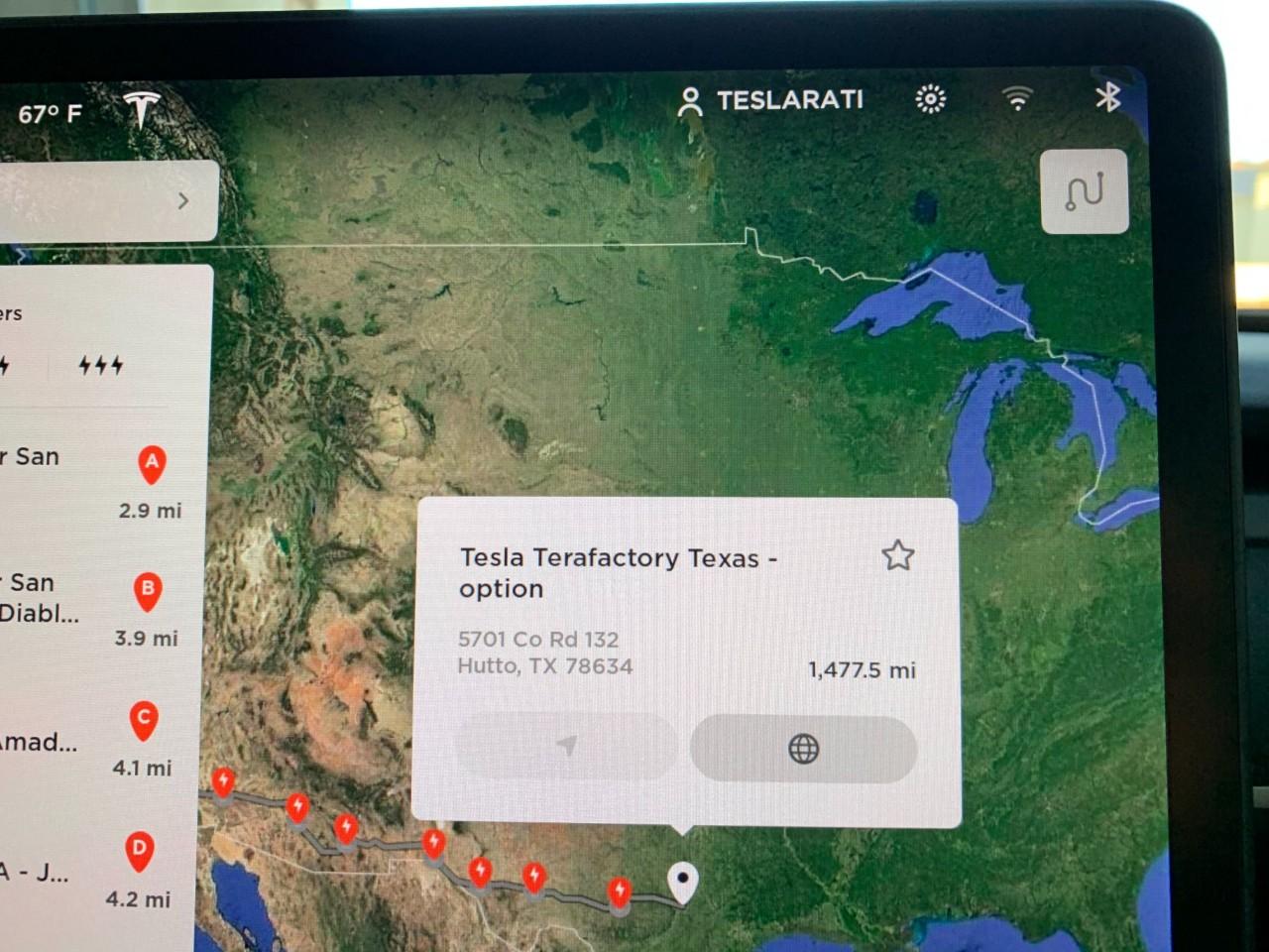 Tesla Terafactory появляется в Техасе в навигационном транспортном средстве