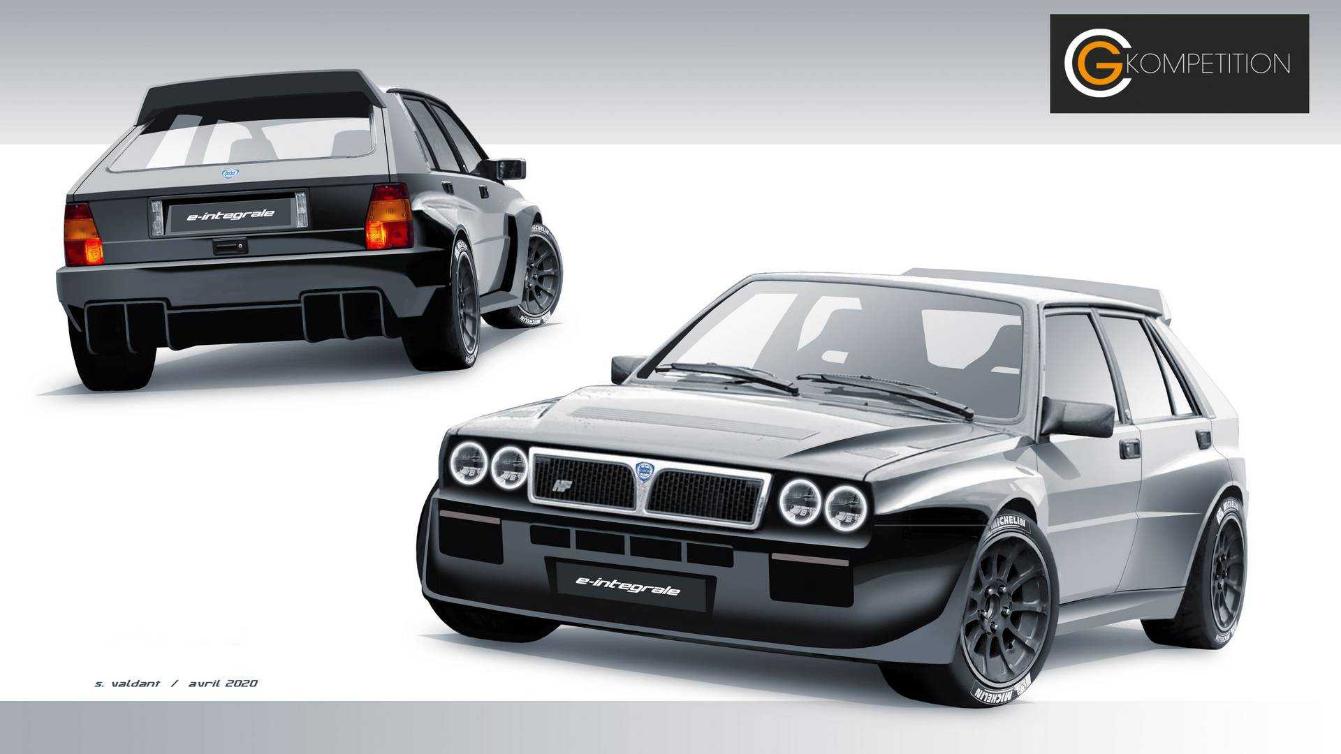 Lancia Delta Integrale запустит серию E-Retrofit Premium и станет электромобилем