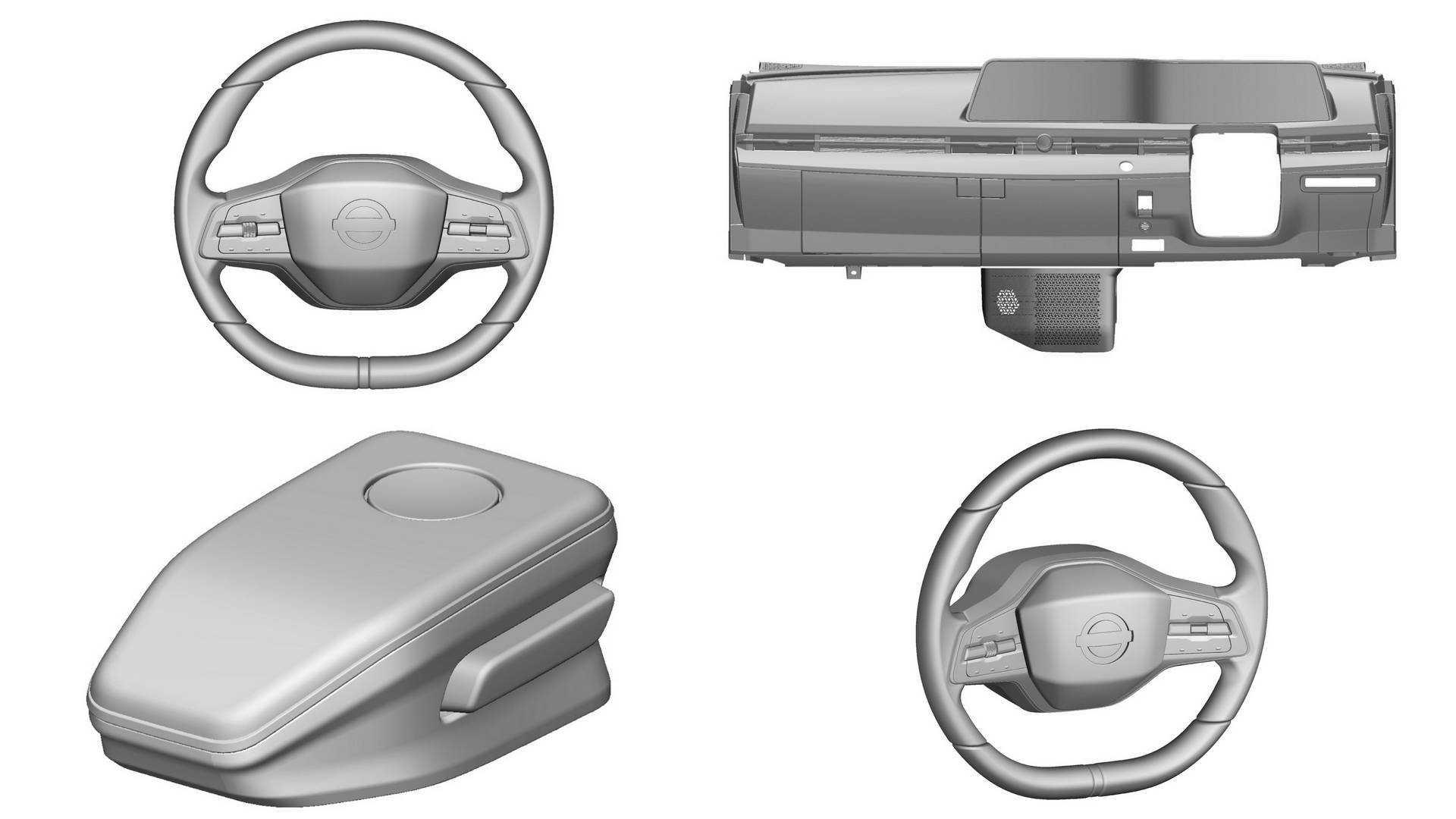 Детали интерьера Nissan Ariya представлены европейскими патентными изображениями