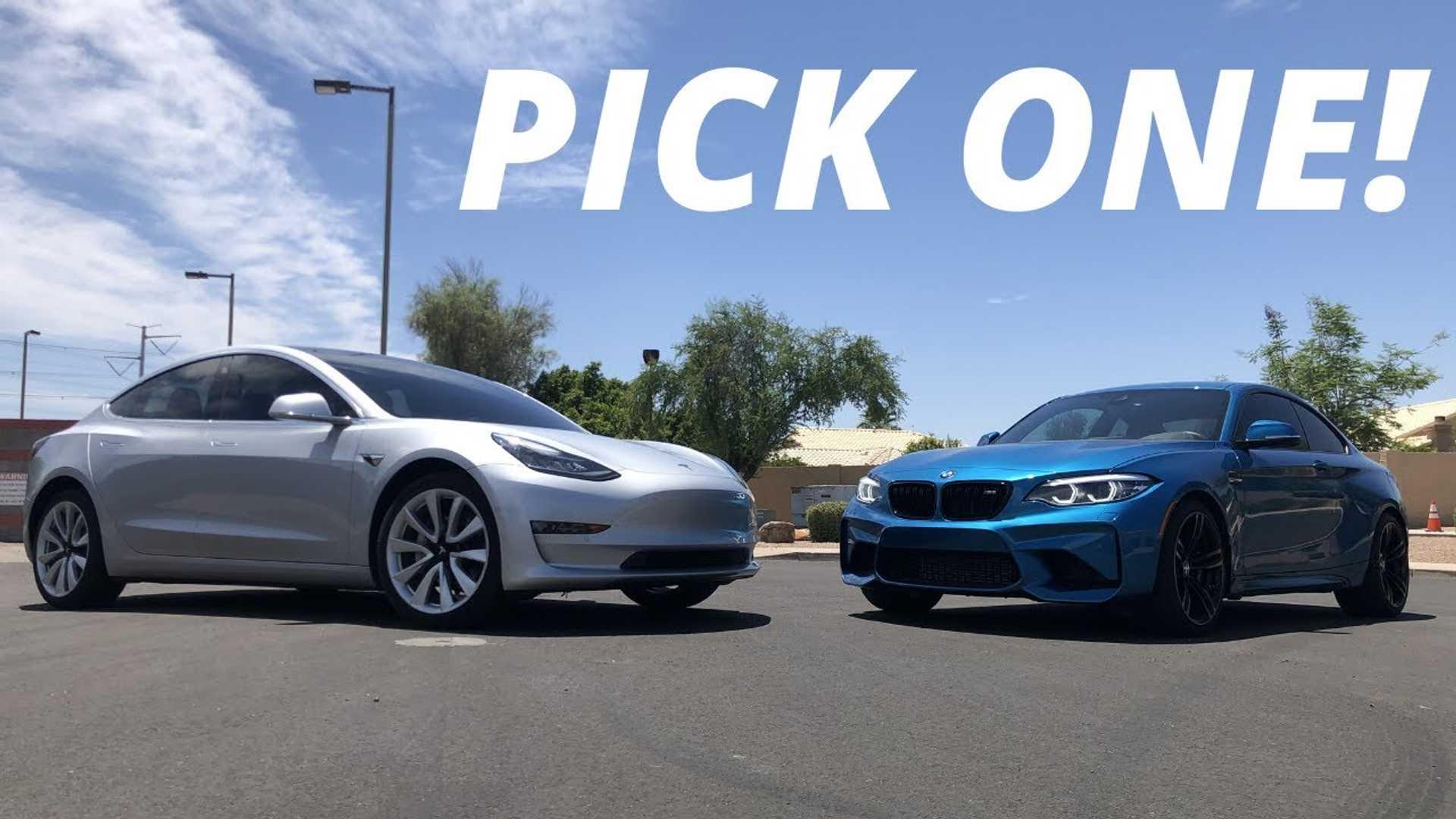 Часовая база Tesla Model 3 Race BMW M2: результаты могут вас удивить