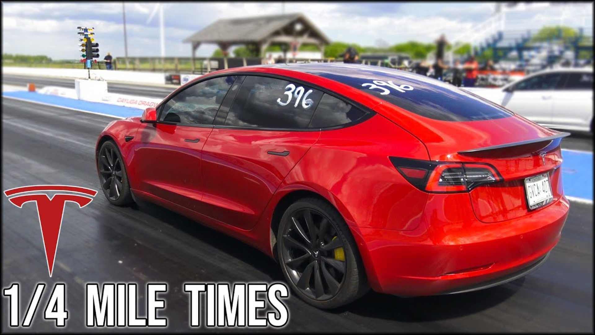 Производительность Tesla Model 3 и Model S Raven: 1/4-мильные трековые тесты
