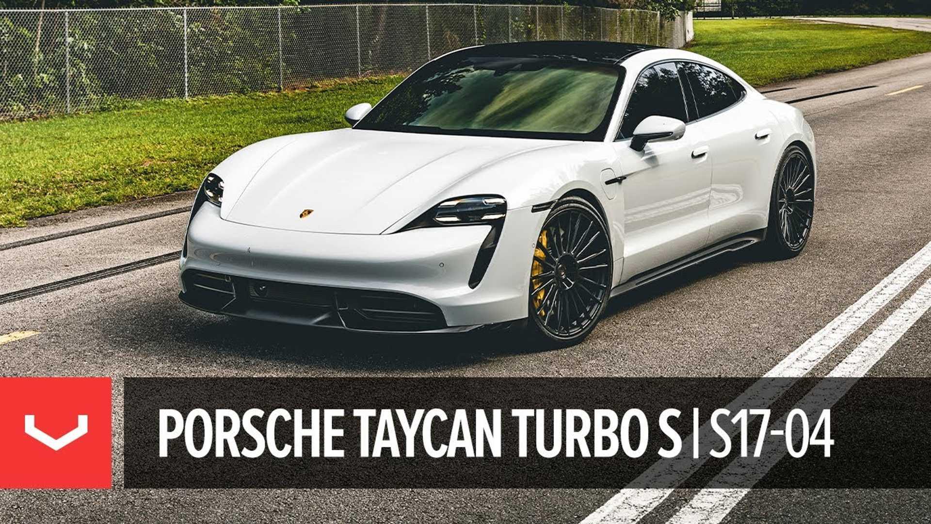Porsche Taycan Turbo S Look преобразуется этими колесами Vossen