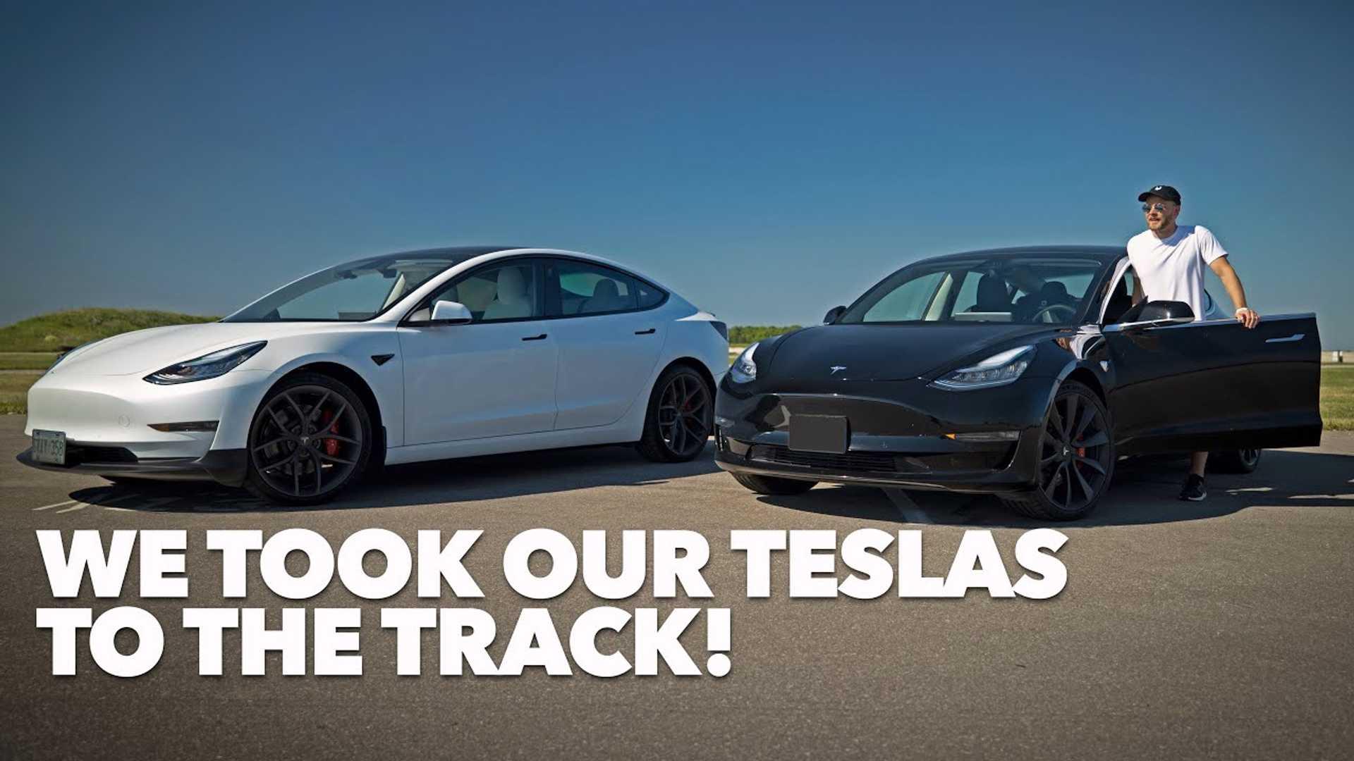 Учимся водить Tesla Model 3 на трассе