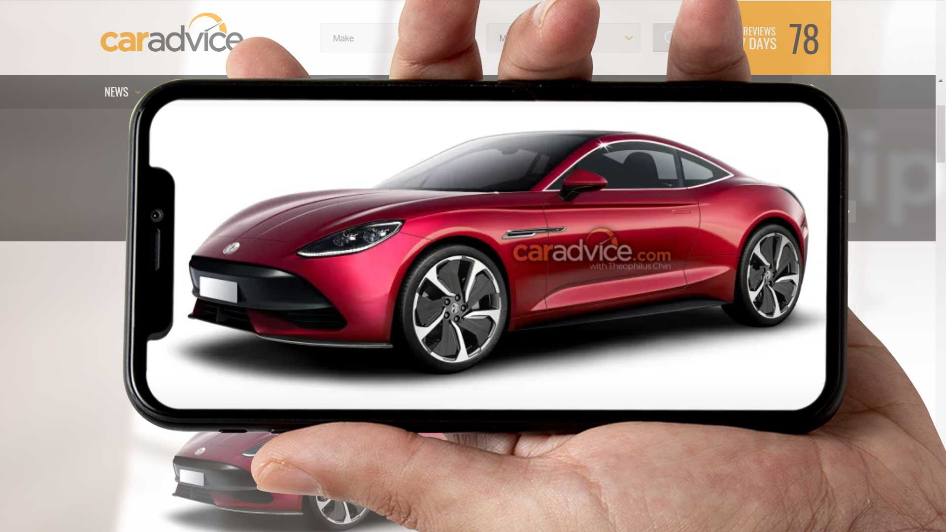 MG E-Motion получает потрясающий рендеринг от CarAdvice.com.au