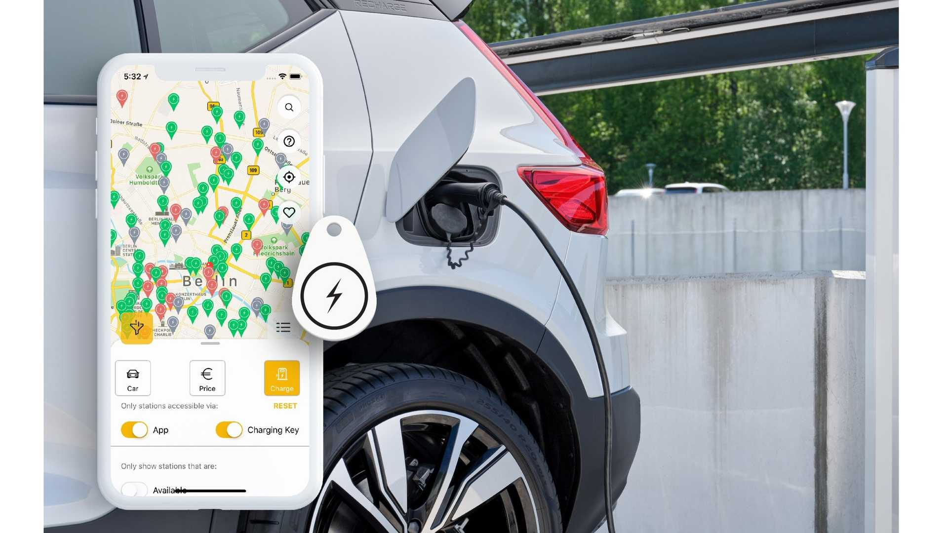 Volvo BEVs будет использовать Plugsurfing для общественной зарядки в Европе