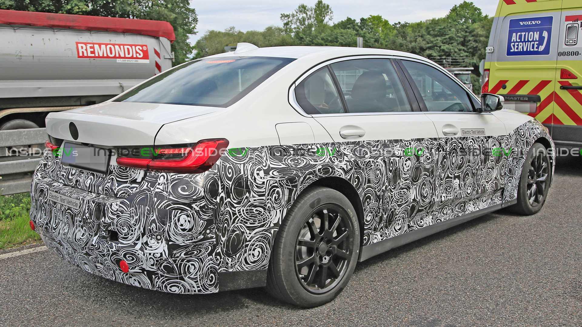 BMW 3 Series Electric Spy Shots