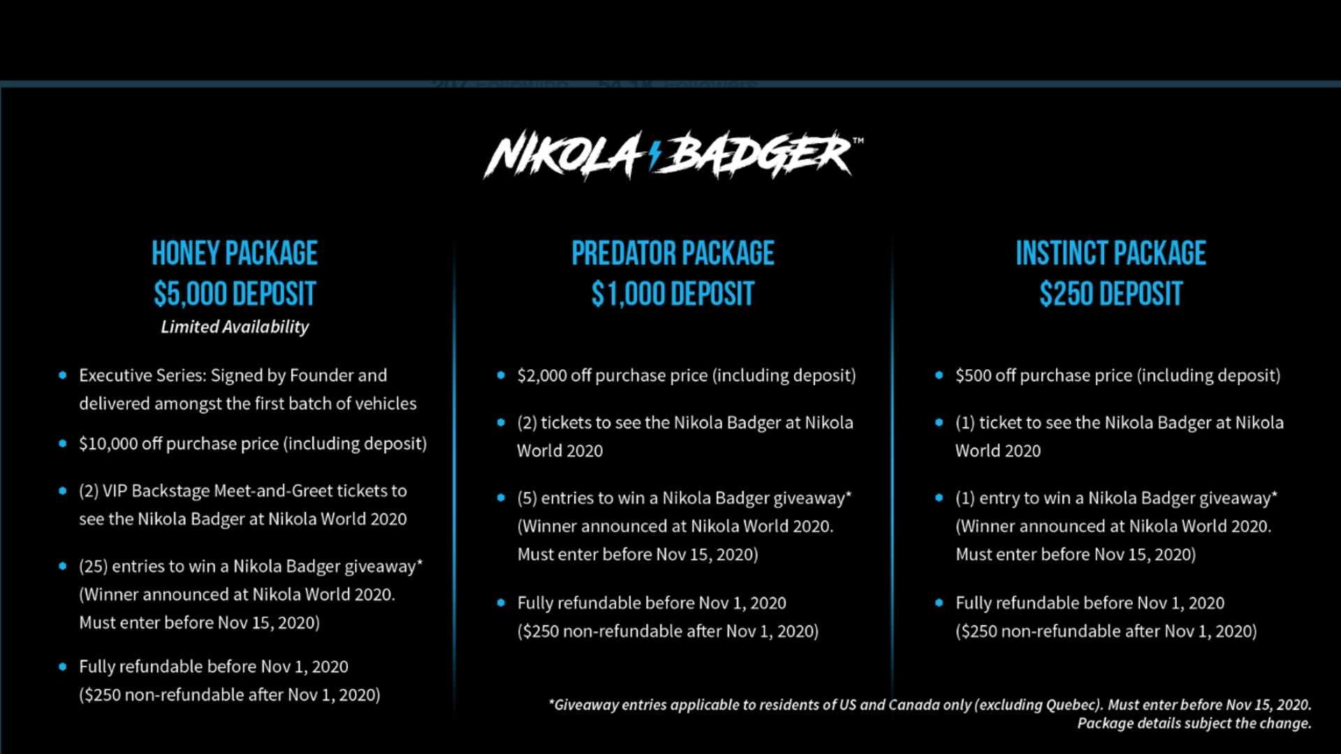 Веб-сайт бронирования пикапа Nikola Badger заработает сегодня в 11 утра по восточному времени