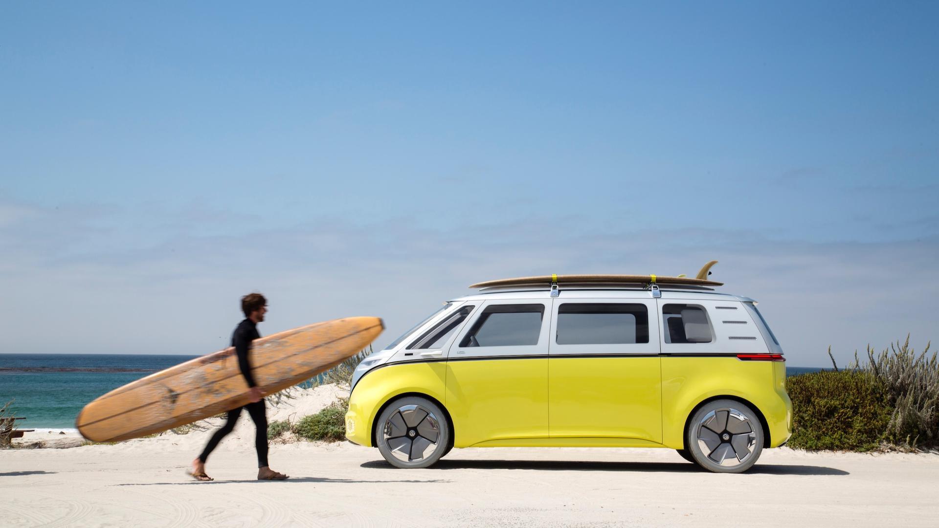 Название торговой марки VW e-Samba в Европе, может использовать его на производственном идентификаторе Buzz.
