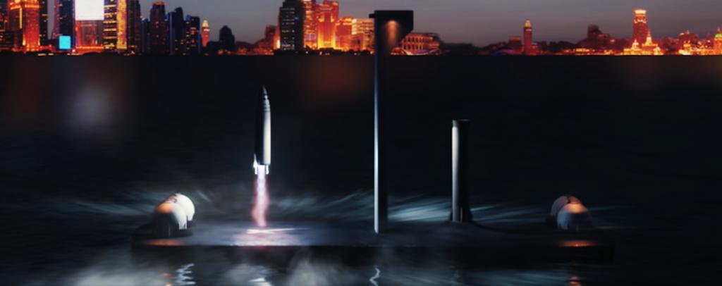Элон Маск говорит, что ракета корабль SpaceX нужен флот плавучих космодромов