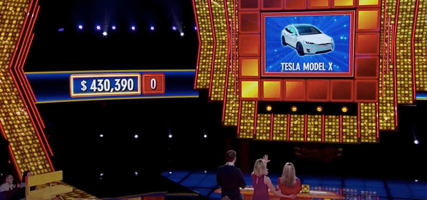 Производительность Tesla Model X становится ключевым призом в конкурсе ABC «Press Your Luck»