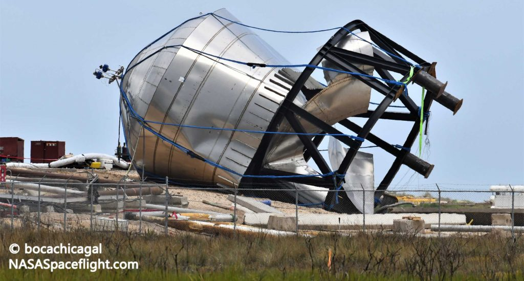 SpaceX взрывает танк Starship, чтобы проверить новый металлический сплав