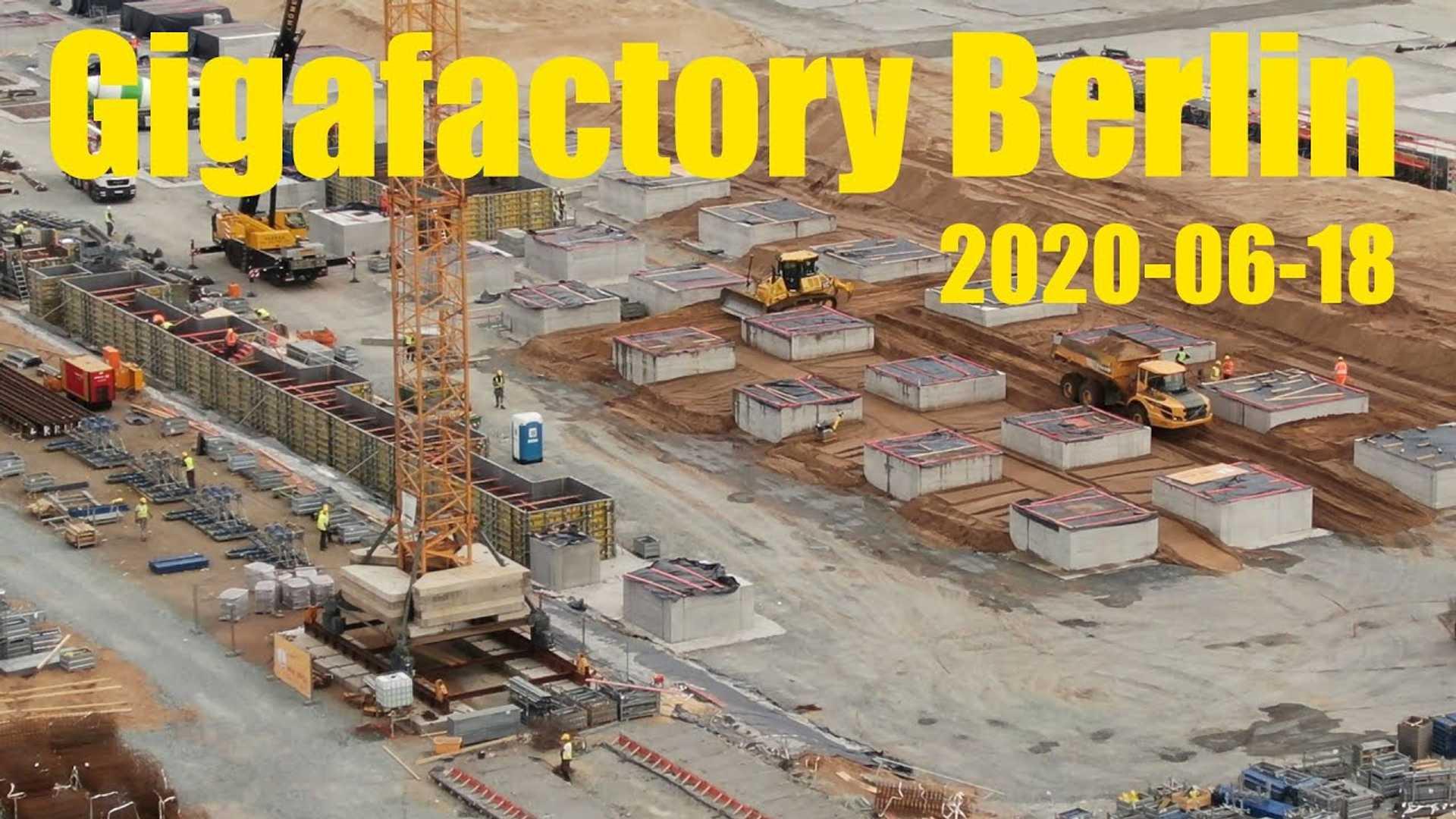 Тесла Гига Берлине Ход Строительства: 18 Июня 2020 Года