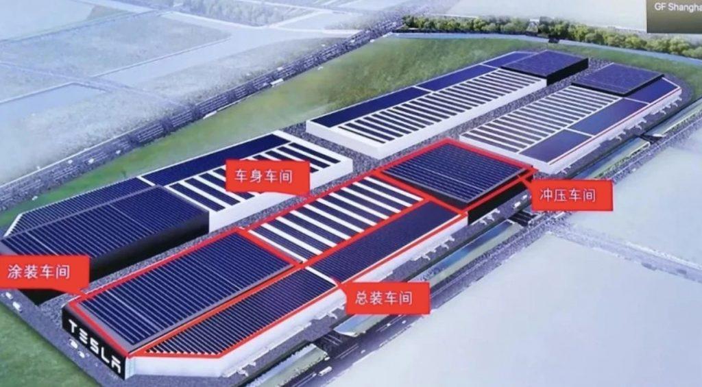 Тесла Гига Шанхай видит загадочную расширение за пределы фабрики модель Y