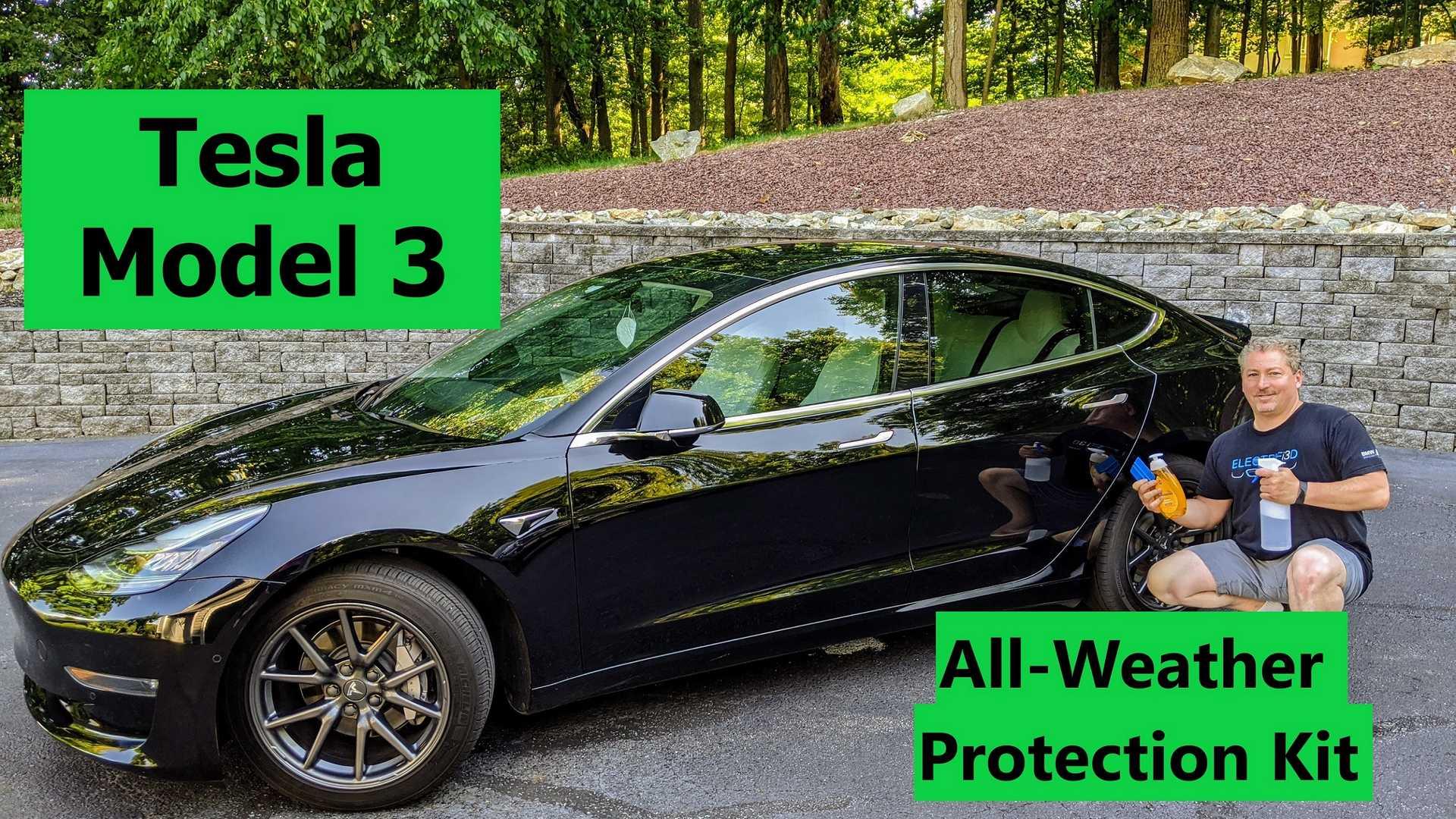 Смотрите, как мы устанавливаем Tesla's Model 3 для защиты от непогоды
