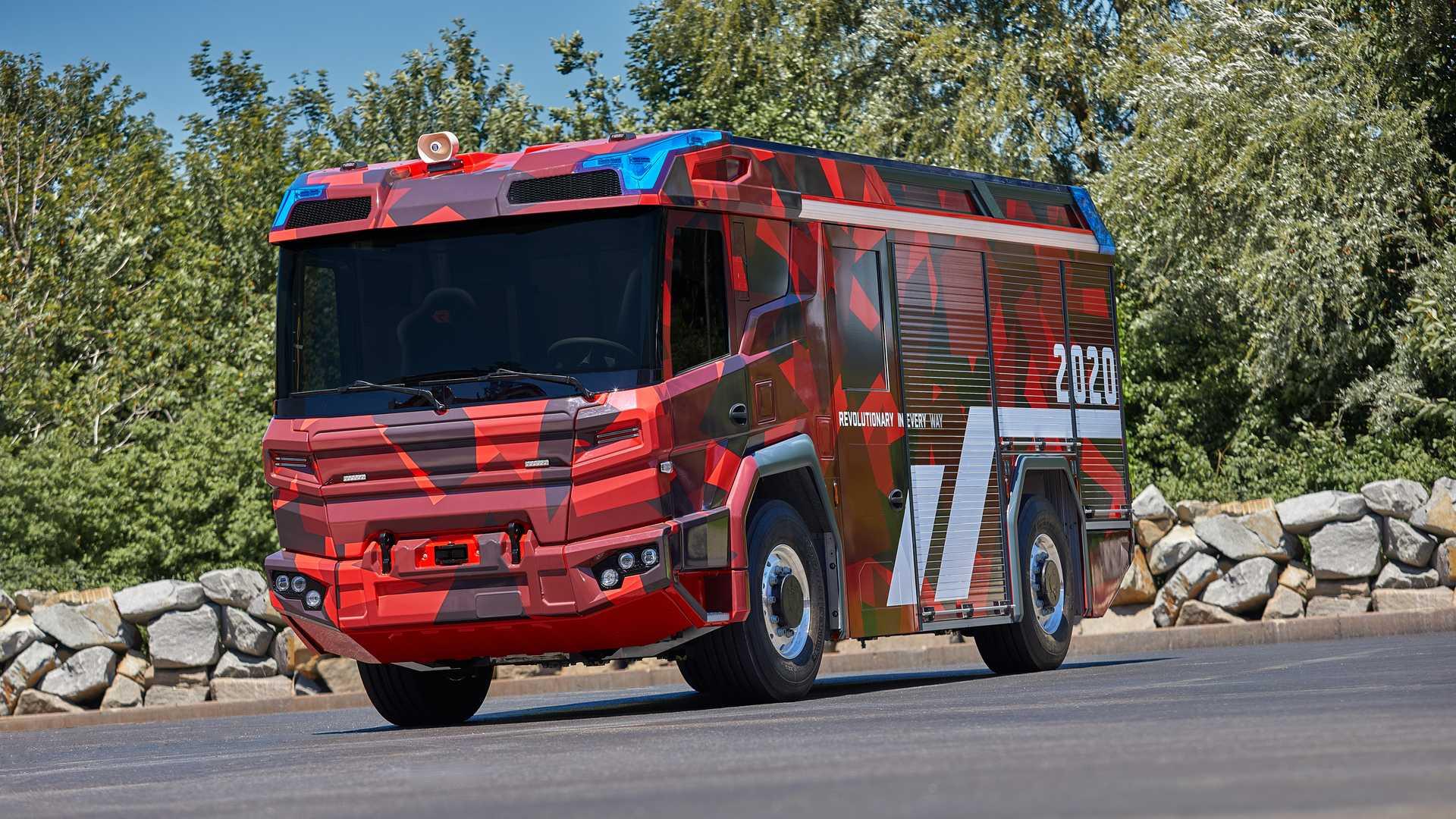 Это может быть первая коммерческая электрифицированная пожарная машина