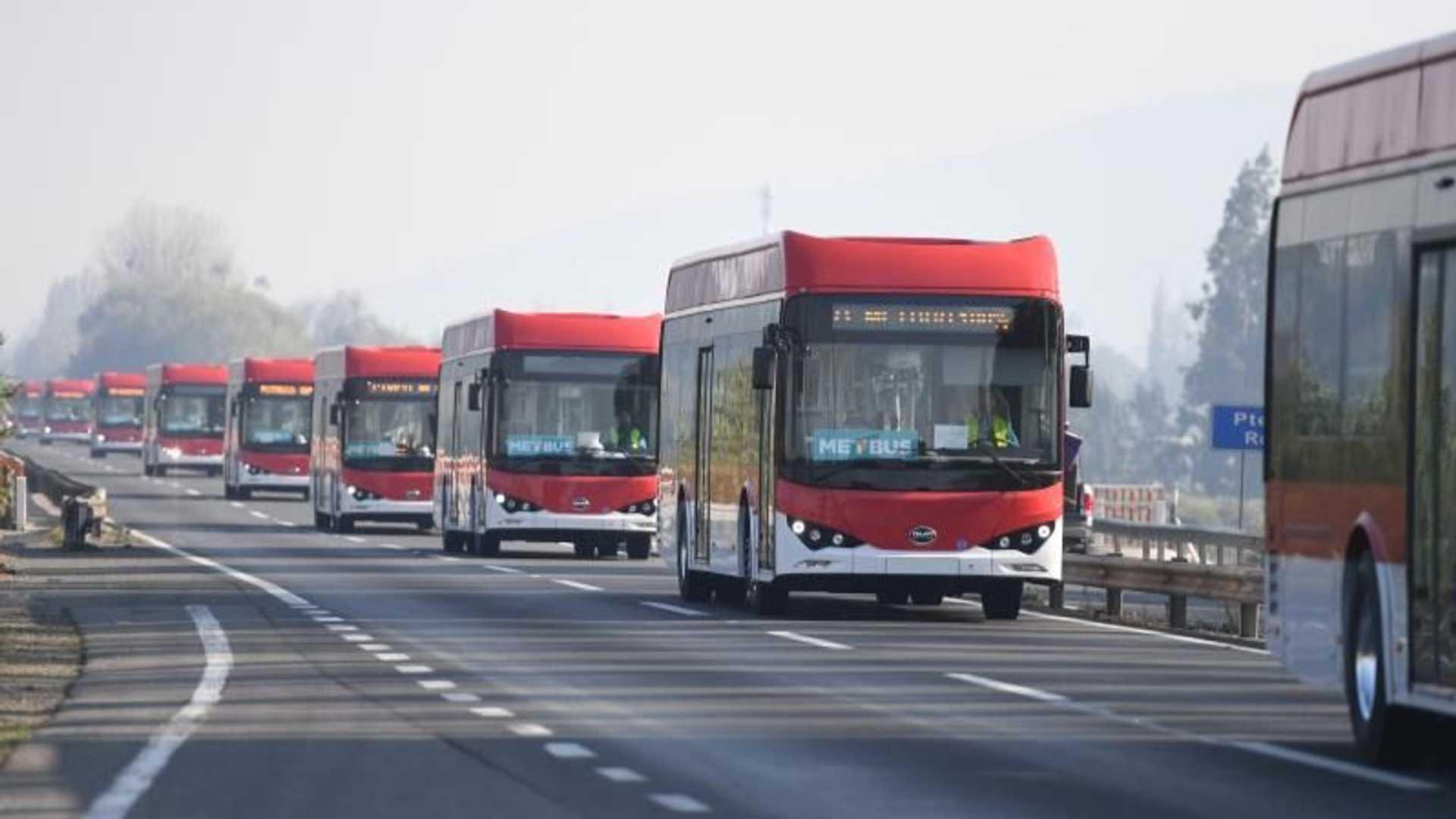 BYD поставляет еще 150 электрических автобусов в Чили
