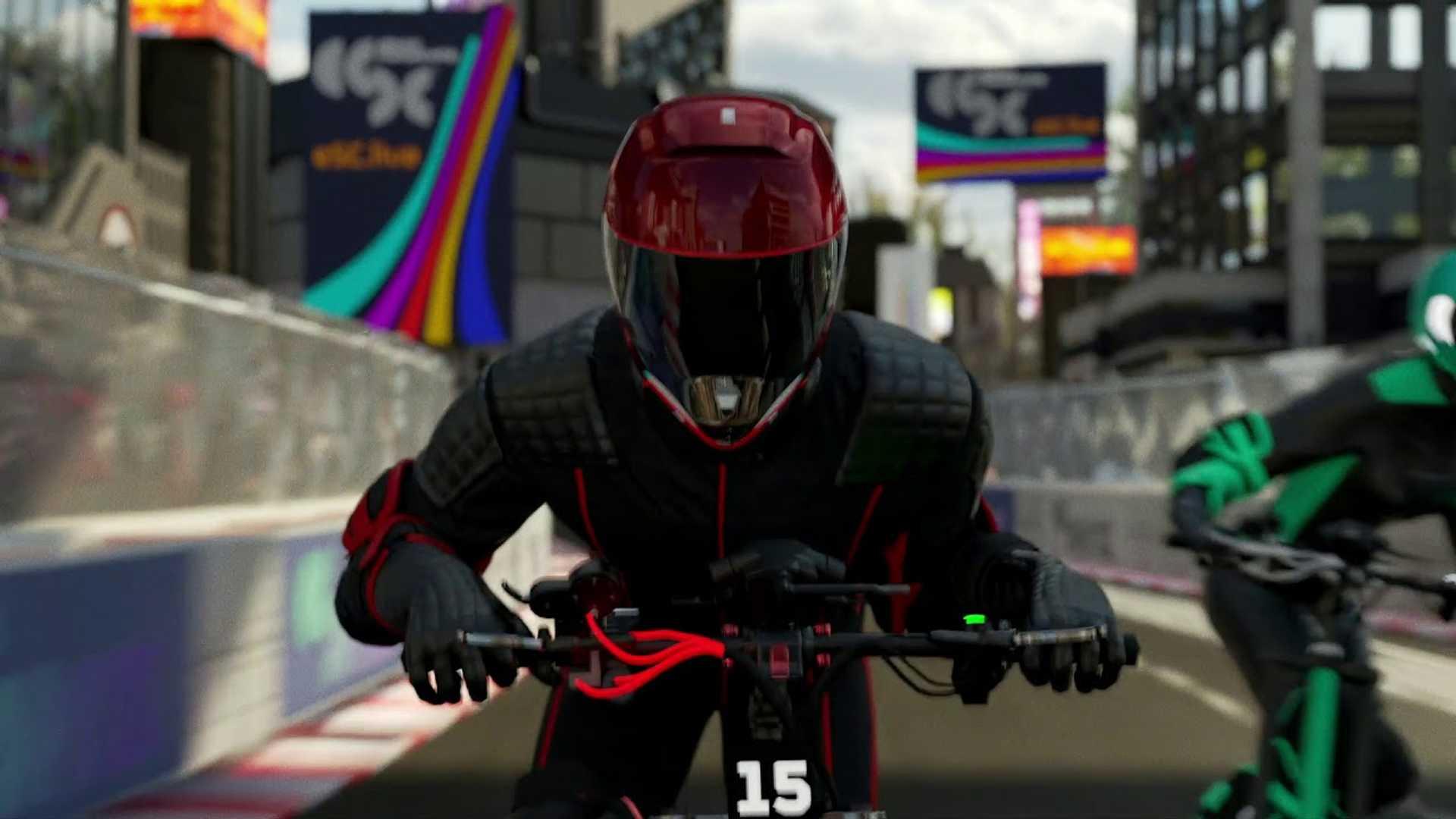 Новая серия гонок Scooter Racing с Tron-подобными визуальными эффектами