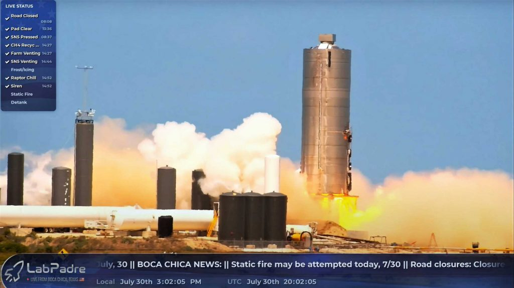 Успех статического огня космического корабля SpaceX Starship готовится к дебютному прыжку