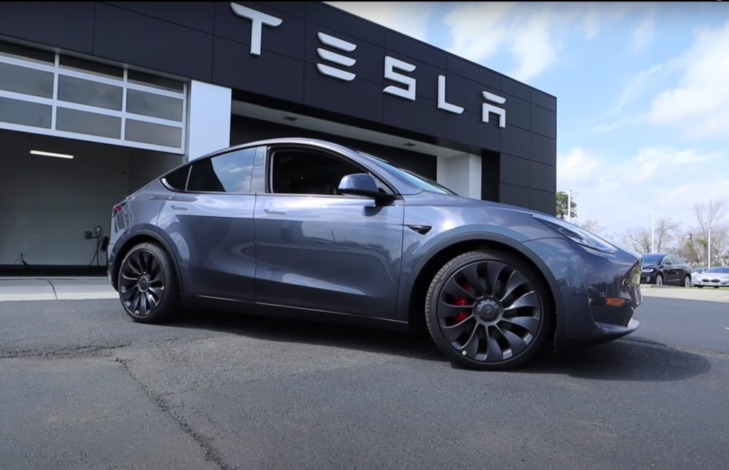 Tesla Model Y Performance delivery center