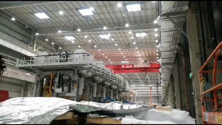 Первый взгляд на массивный штамповочный станок Model Y от Tesla в Gigafactory Shanghai