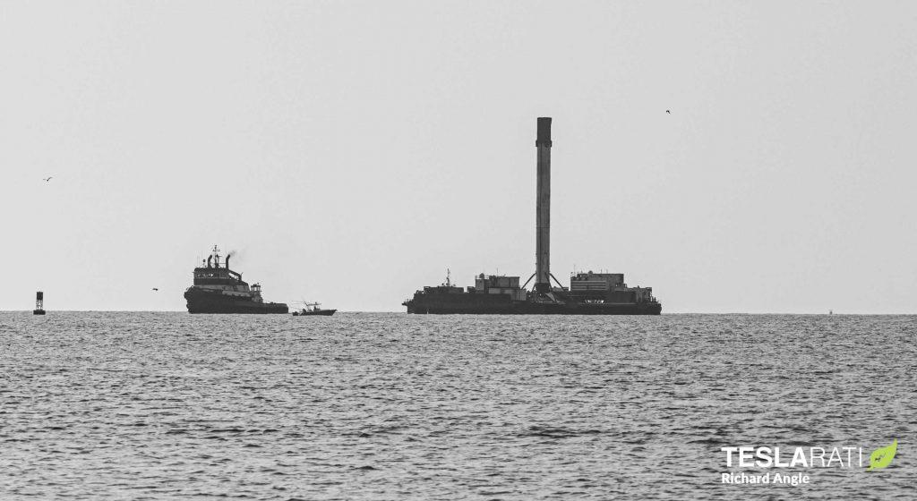 SpaceX добавляет свежий ускоритель Falcon 9 во флот после восстановления корабля дронов