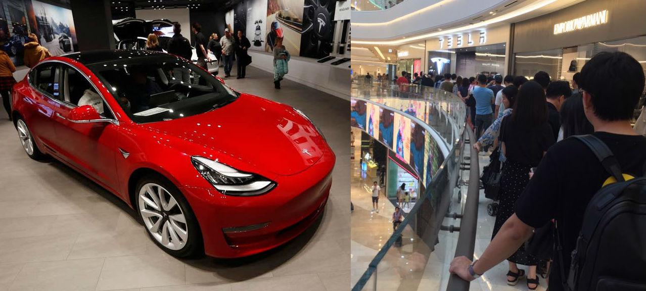 Средства безопасности Tesla Model 3 расследуются в Южной Корее