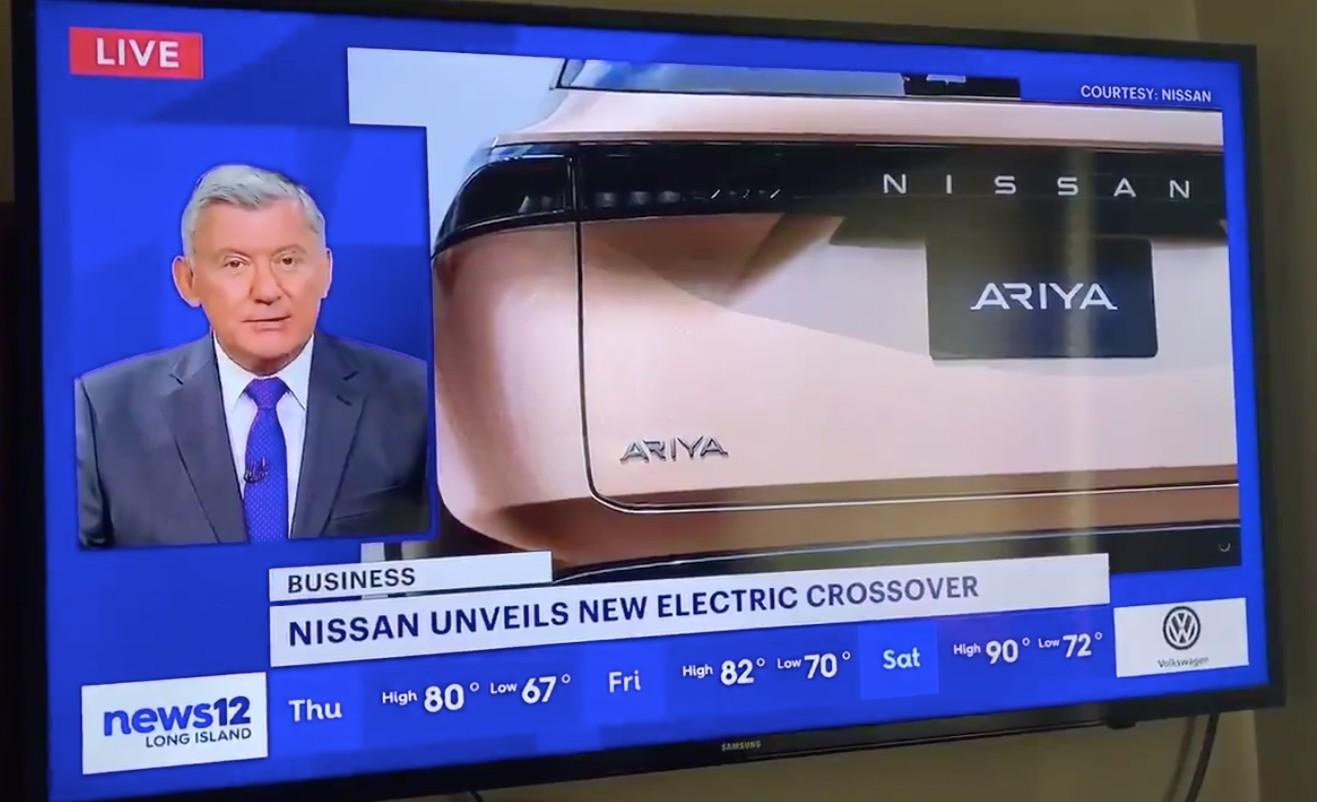 Tesla Model 7: незнакомство новостных СМИ с электромобилями, демонстрируемыми в сегменте Nissan Ariya
