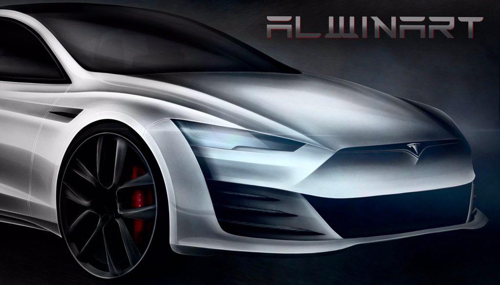 Tesla Model S Плед, воплощенный в жизнь в концепт-арт