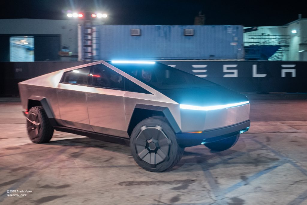 Tesla Cybertruck unveiled in Los Angeles, Nov. 21, 2019 (Photo: Arash Malek)