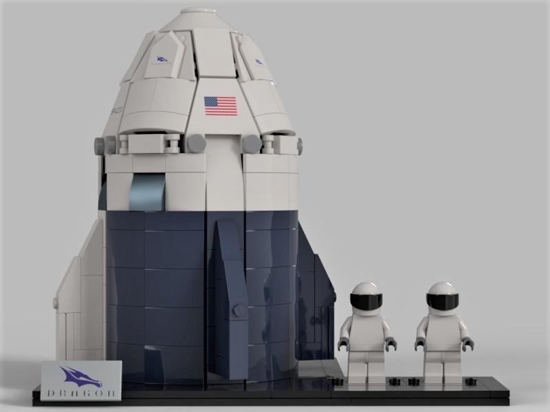 Поклонник SpaceX создает космический корабль LEGO Crew Dragon, и это довольно круто