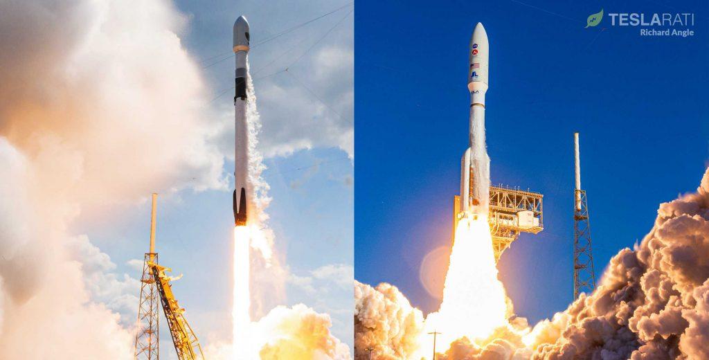 Ракеты SpaceX Falcon 9 и ULA Atlas V выиграли контракты на запуск двух спутников