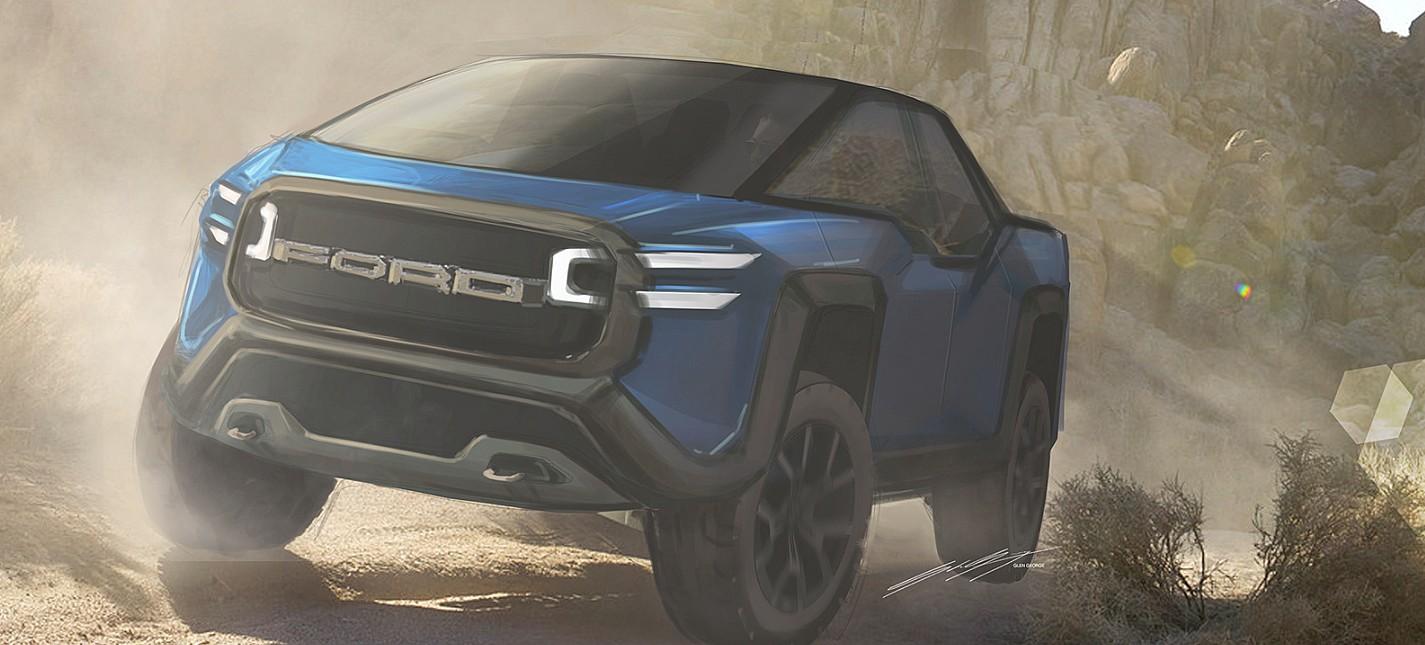 Футуристический концепт Ford F-E50 доказывает, что возраст Tesla Cybertruck уже наступил
