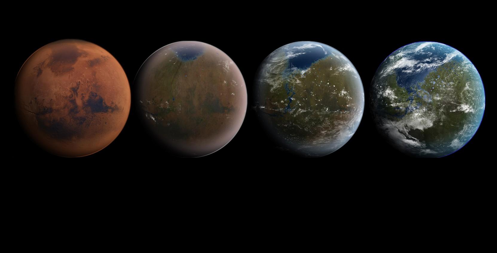 Согласно новому исследованию, Марс как планета земного типа в прошлом маловероятен