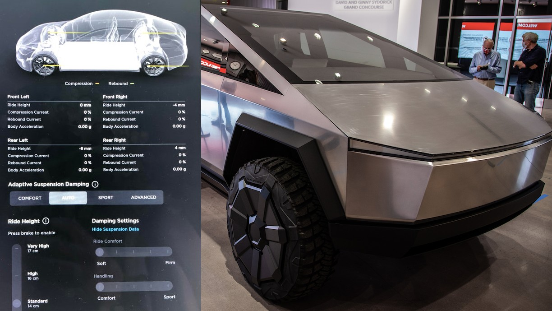 Адаптивные функции Tesla Cybertruck в реальном времени становятся ближе с новым обновлением подвески