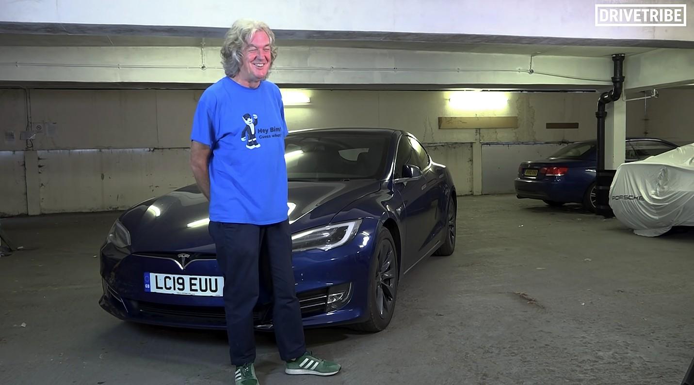 Бывший ведущий Top Gear и владелец Tesla Джеймс Мэй обжаривает свою Model S 100D