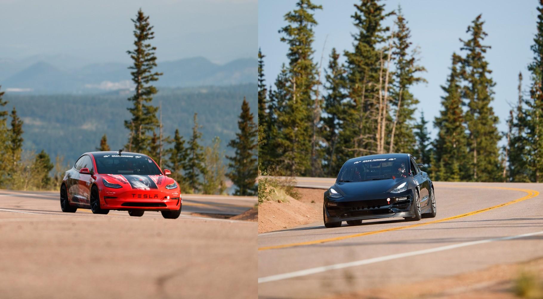 Tesla Model 3 доминирует в выставочном классе Pikes Peak с двумя отделками подиума