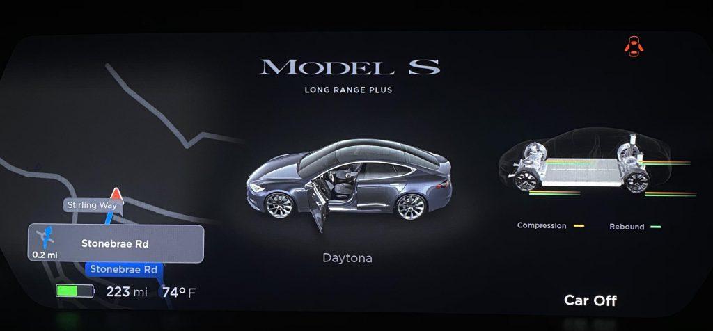 Tesla Model S и X получили виджет панели приборов Adaptive Suspension