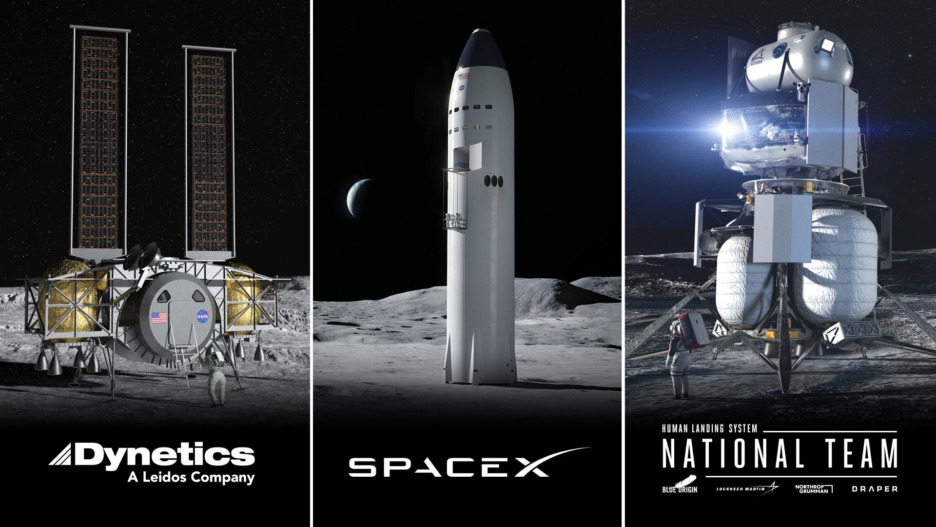 Посадочный модуль Starship Moon от SpaceX прошел проверку НАСА вместе с Blue Origin, Dynetics