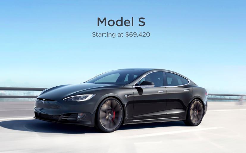 Модель S получает второе снижение цен на этой неделе - от 69 420 долларов