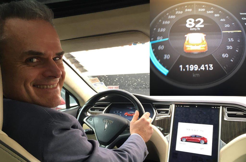 Рекордсмен Гиннеса Tesla Model S преодолеет рубеж в 1,2 миллиона км