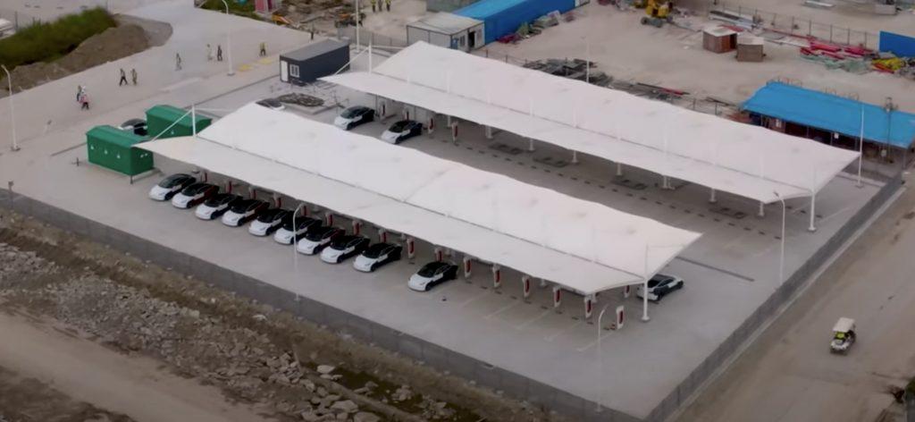 Tesla поднимает планку с помощью станции Supercharger на 60 киосков в Gigafactory Shanghai